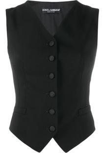 Dolce & Gabbana Colete Com Botões - Preto