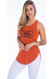 Camiseta Play Hard Sallada Mista Terra Cota