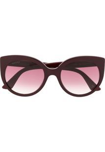 Gucci Eyewear Óculos De Sol Gatinho - Vermelho