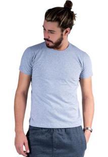 Camiseta Mister Fish Básica Cotton Masculina - Masculino-Cinza