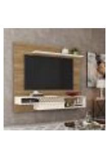 Painel Para Tv Até 65 Polegadas Sala De Estar Essence Nature/Off White - Frade Movelaria