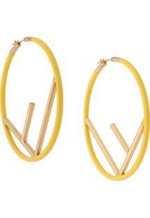 Fendi F Logo Hoops - Amarelo