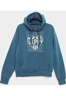 Moletom City Lady Love Shine Plus Size Feminino - Feminino-Azul