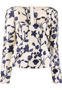 Brock Collection Blusa Com Bordado Floral - Neutro