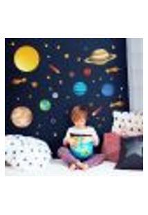Adesivo De Parede Infantil Espaço Sistema Solar.
