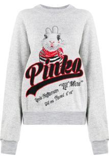Pinko Logo Rabbit Jumper - Cinza