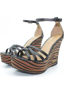 Sandalia Barth Shoes Estrela Zebra Marrom