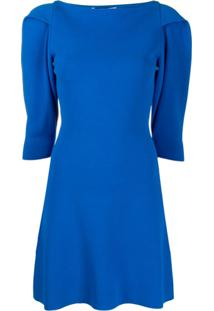 Stella Mccartney Structured Shoulders Short Dress - Azul