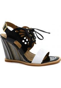 Sandália Anabela Zariff Shoes Verniz