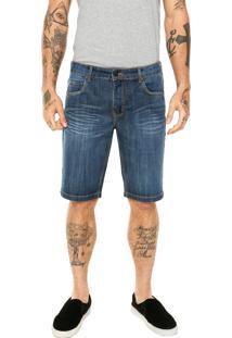 Bermuda Jeans Billabong Slim Overdye Azul