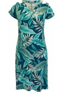 Vestido Pau A Pique - Feminino-Verde