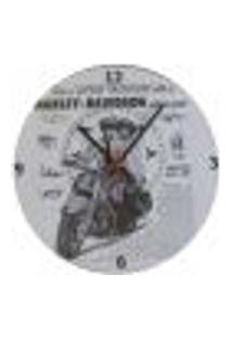 Relógio Em Vinil Harley Davidson