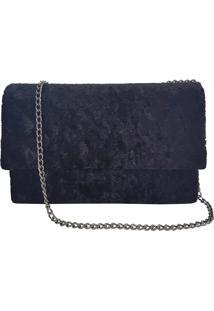 Bolsa Bag Dream Em Veludo Molhado Preta