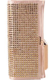 Clutch Com Aviamento - Nude & Douradaluiza Barcelos