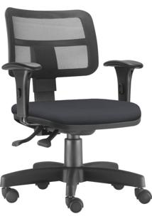 Cadeira Giratã³Ria Executiva Lyam Decor Zip Suede Preto - Preto - Dafiti