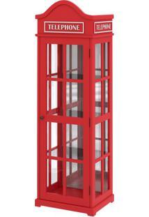 Cristaleira Telephone Com Espelho 1,88 Mt (Alt) - 56986 - Sun House