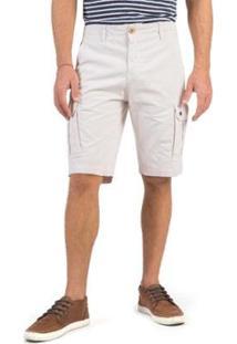 Bermuda Cargo Chino Taco Masculina - Masculino-Off White