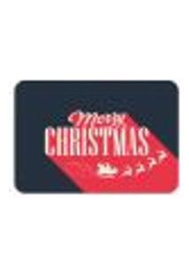 Tapete Decorativo Mdecore Natal Merry Christmas Preto 40X60Cm