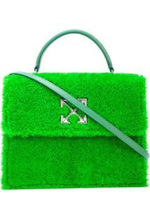 Off-White Bolsa 2.8 Jitney Furry - Verde