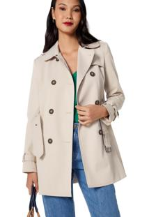 Trench Amaro Coat London Breeze Bege - Bege - Feminino - Dafiti