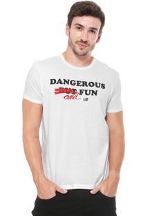 Camiseta Ellus 2Nd Floor Dangerous And Fun Branca