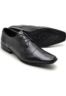 Sapato Social Couro Texturizado Reta Oposta Masculino - Masculino