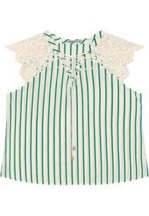 Blusa Tricoline Secret Feminina - Feminino-Verde