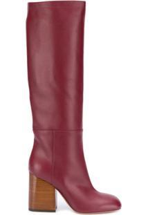 Marni Bota Over The Knee - Vermelho