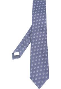 Lardini Gravata De Seda Com Padronagem - Azul