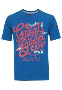 Camiseta Fatal Estampada 20350 - Masculina - Azul