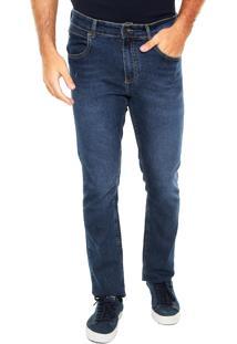 Calça Jeans Lacoste Slim Comfort Azul