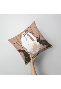 Almofada Avulsa Decorativa Coelhos Moderno