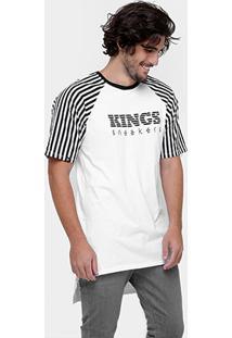 Camiseta Kings Oversized Costas Alongada Listras - Masculino