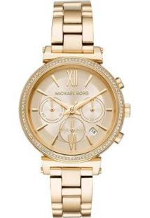 Relógio Michael Kors Essential Sofie Feminino - Feminino-Dourado