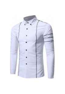 Camisa Masculina Slim Line - Branca