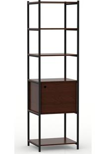 Guarda-Roupa Modulado Closet Com Portas Iron Wood-Mappin - Amendoa / Preto