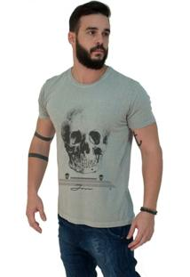 Camiseta Estonada Premium Cranio Caveira - Masculino