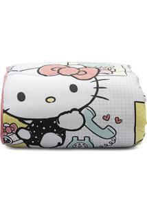Edredom Hello Kitty® De Solteiro- Branco & Preto- 18Artex