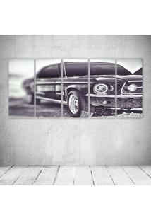 Quadro Decorativo - Old Car Black - Composto De 5 Quadros - Multicolorido - Dafiti