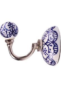 Cabide De Cerâmica 3133 Floral Azul Le Souk