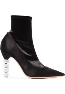 Sophia Webster Ankle Boot 'Coco Crystal 100' - Preto