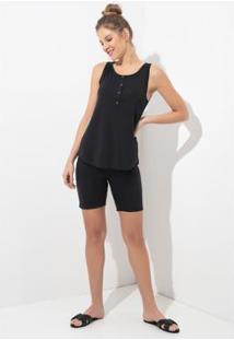Conjunto Pijama Acuo 2 Peças Toque De Algodão Feminino - Feminino