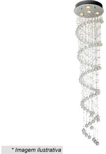 Plafon Spirale- Cristal & Inox- 180Xã˜40Cm- Bivolhevvy