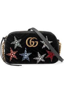 Gucci Bolsa 'Gg Marmont' Pequena - Preto