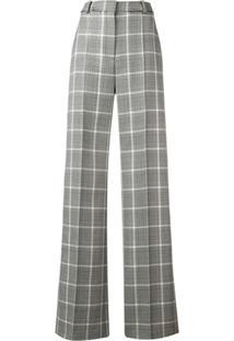 Stella Mccartney Calça Pantalona Xadrez - Preto