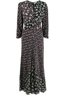 Rixo Vestido Chelsea Com Estampa Floral - Preto