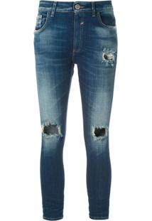 John John Calça Jeans Cropped Boy Milão 3D - Azul