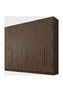 Guarda Roupa Itaguara Ii 6 Portas 4 Gavetas Café Wood Wow Móveis