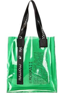 Bolsa Shopping Bag Plástico Mormaii Feminina - Feminino-Verde