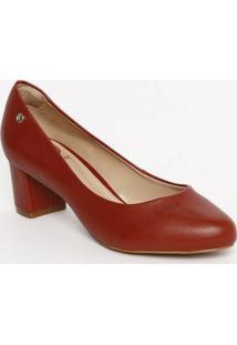 Sapato Tradicional Com Tag Metã¡Lica- Vermelho- Saltodumond